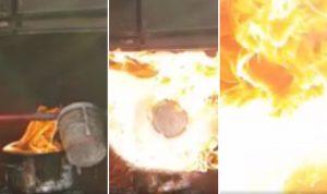 VIDEO KOJI BI SVATKO TREBAO POGLEDATI: Zagrebački vatrogasci demonstrirali što nikako ne smijete učiniti ako vam izbije požar na štednjaku!