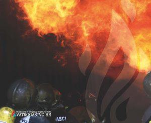 "Podloška za miša ""Flashover"" s logotipom portala ""vatrogastvo.hr"""