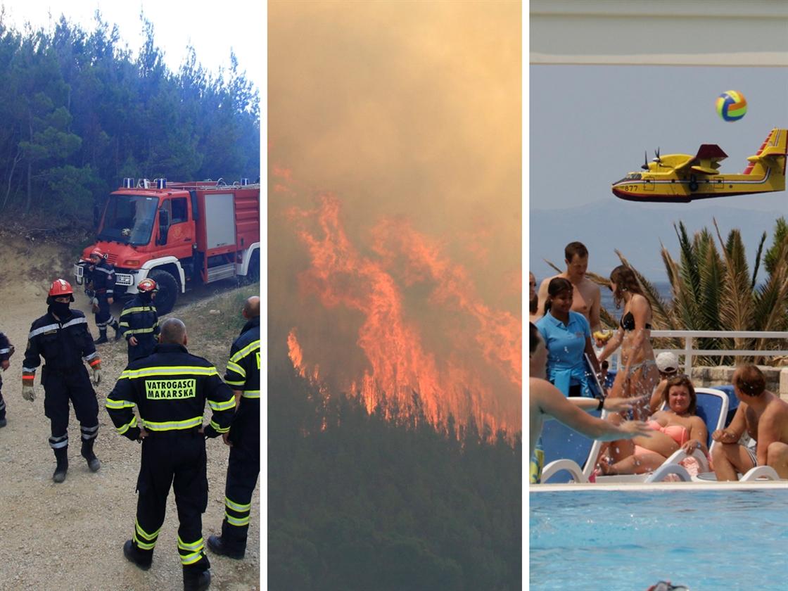 Vojska stigla u Makarsku, cijela rivijera pod gustim dimom, šokiranim turistima nad glavama lete kanaderi