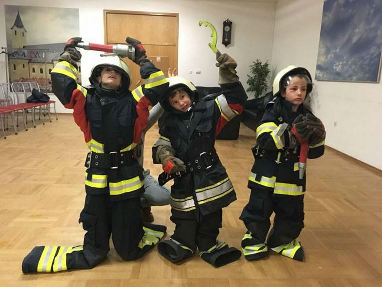 Ova djeca žele postati vatrogasci i od malih nogu uče o tom plemenitom pozivu